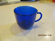 COBALT BLUE Glass Coffee or Tea  Cup