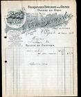 """TROYES (10) FOURNITURES pour USINES / PAPIERS en gros """"Edmond HOUZELOT"""" en 1914"""