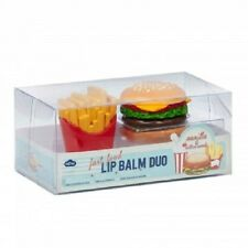 Novelty Fast Food Lip Gloss Duo (Burger and Fries) Vanilla & Cotton Candy Flavor