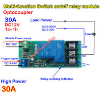 DC 12V Delay Timer Relay Switch Counter Control  30A High Power on/off Module