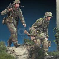 1/35 Resin Figure Model Kit German Soldiers Infantry Normandy WWII Unpainted