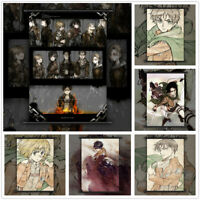 Attack On Titan Eren Armin Levi Anime Wall Art Poster Scroll Home Decoration