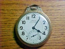 950B Open Face Pocket Watch Hamilton 10K Gold Filled 16S 23J