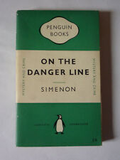 GEORGES SIMENON - ON THE DANGER LINE 1952 PAPERBACK - GOOD CONDITION