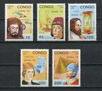 38052) Congo Rep.1992 MNH Genova 92 5v Explorers