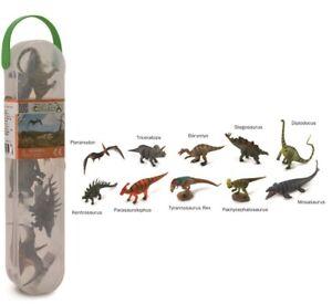 New CollectA Dinosaurs Box of 10 Mini Dinosaur Figures