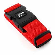 Koffergurt mit Zahlenschloss Rot,Kofferband,Gepäckgurt Namensschild Top!!