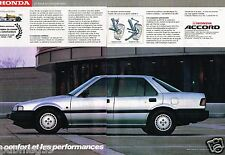 Publicité Advertising 1986 (2 pages) Honda Accord