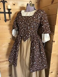 18Th Century Colonial Rev War Williamsburg 1700s Complete Cotton Outfit Custom