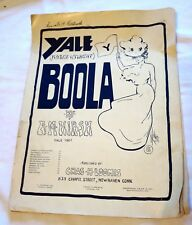 1901 Yale University, New Haven, Connecticut March & Two Step BOOLA Sheet Music
