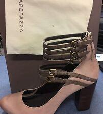 Vintage Apepazza Anversa Bittersweet Leather Heel Strappy Pump Shoes 8.5
