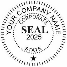Corporate Seal Custom Round Self Inking stamp,Custom Corporate Seal custom stamp