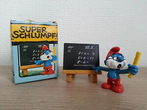 SUPER SMURF LE GRAND SCHTROUMPF ENSEIGNANT 40224 Schleich NEUF COMPLET