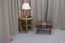 Small Footstool in a Balmoral Rosso Fabric - Free UK Mainland Delivery