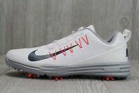 40 Nike Men's Lunar Command 2 Boa Golf Shoes White Grey 9 - 14 888552-101