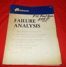 Fiat Allis  Failure Analysis Manual