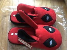 Brand New Marvel Deadpool Bunny Slippers - Loot Crate Exclusive - L