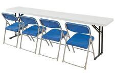 Nps National Public Seating Seminar Folding Tables 700lb Capacity 18w X 72l