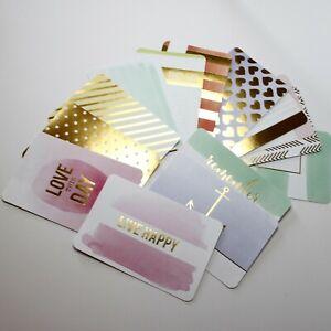 Project Life Gold Foil 4 x 6 Cards 14 Pc Smash Junk Journaling Art Scrapbooking