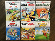 Lot of 6 ASTERIX Comic Books Soft Cover in German Language