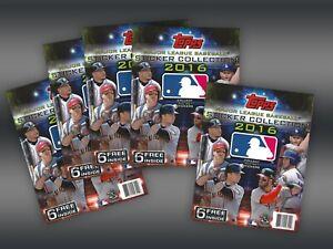 MLB Sticker Album LOT of 5 Books 2016 Topps Collection Baseball Set Unused