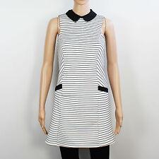 Miss Selfridge Womens Size 6 White Black Stripe Dress