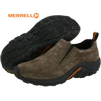 Mens Merrell Jungle Moc Slip-on GUNSMOKE Suede Comfy Shoes All Sizes NIB J60787