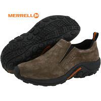Mens Merrell Jungle Moc Slip-on GUNSMOKE Suede Comfy Shoes All Sizes NIB J60787