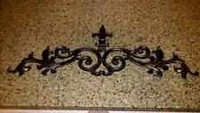 Cast Iron, Fleur de Lis, Topper, Wall Plaque, Valance, Old World, Pediment, New
