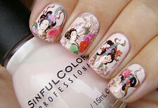 Ancient Chinese Girls Japanese Geisha Water Transfers Nail Art Stickers Decals