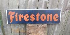 HAND PAINTED WOOD SIGN FIRESTONE ADVERTISING REPRODUCTION  TIRES AMERICANA