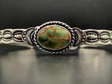 + Kingman Turquoise Bracelet Native American Sterling Silver