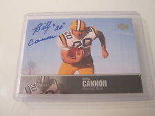 BILLY CANNON 2011 UD COLLEGE FOOTBALL LEGENDS ON CARD AUTO AUTOGRAPH