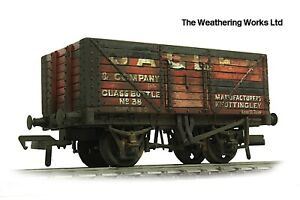 Boxed Bachmann 8 Plank BR ex PO Open Coal / Coke wagon *PRO WEATHERED LOOK*