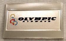 OLYMPIC AIRWAYS! 3.1 GRAMS STERLING SILVER BAR! ENAMELED EMBLEM 1982 AIRLINES