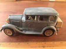 "Vintage Hubley Toys Model A Sedan  864-5K Diecast Metal  Seat Ford Car 8"""