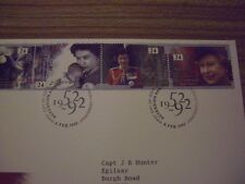 1992 Great Britain Queen Accession Anniversary Happy And Glorious Royal FDC