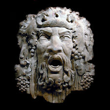 Bacchus Dionysus Head Decorative Wall Relief Sculpture Plaque