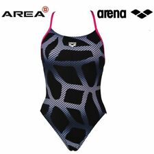 ARENA WOMEN'S SPIDER BOOSTER BACK ONE PIECE SWIMSUIT - BLACK/ROSE
