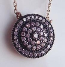 Rose Gold Simulated Round Costume Necklaces & Pendants