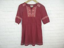 Lucky Brand Kids Girls size Large Red and Orange Long Sleeve Fall Dress