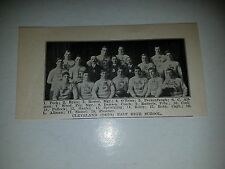 Cleveland Ohio East  High School 1907 Football Team Picture VERY RARE!