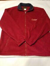 "Men's Cheneral the original ""Ketchikan Alaska"" burgundy Fleece Jacket L/XL"