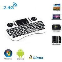 White Wireless 2.4G Keyboard for PC Android TV XBOX Mini Touchpad Mouse UK