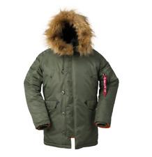 Men Winter Heavy Weight Long Parka Jacket Hood Padded Puffer Warm Coat