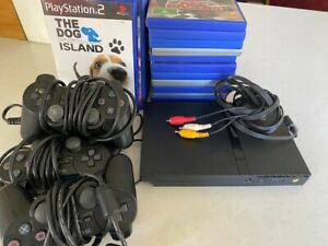 Playstation 2 Console Bundle - 3 controllers and 23 games