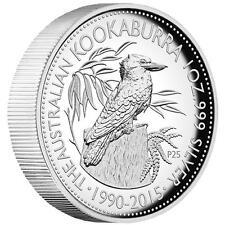 Silbermünze Kookaburra Jubiläum 25 Jahre High Relief Münze 1Oz Box Coa 25 Years