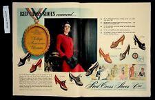 1942 Red Cross Shoes Women's Fashion America Woman Vintage Print ad 8730