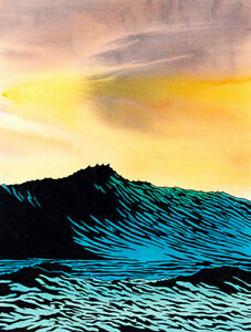KEN PRICE - Afternoon Sea (60x45.5), CANVAS, POSTER FREE P&P
