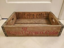Vintage 1975 Wooden Crate Royal Crown Cola RC Nehi Diet Rite Red Print Chicago